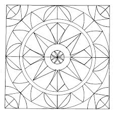 Free Coloring Pages Of Geometric Shape Abstract Download Print