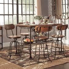 HomeSullivan Olson 5-Piece Brown Bar Table Set 405429-365PC ...