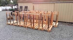 DIY Outdoor Firewood Rack Using Reclaimed Wood For Small Backyard