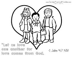 Pretentious Love One Another Coloring Pages God Loves All His Children And We Are Called To