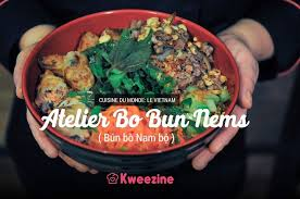 cuisine vietnamienne de cuisine vietnamienne le bo bun nems bùn bo nam bô kweezine