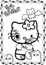 Hello Kitty Coloring Pictures Valentine Pages Free Cute Scary