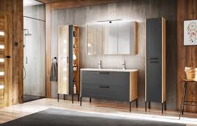 badmöbel set 4 tlg badezimmerset pantin grau inkl waschtisch 120cm