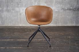 kawola stuhl esszimmerstuhl mit drehfunktion kunstleder cognac