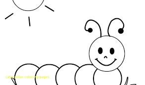 Smiley Face Coloring Page Caterpillar Pages With Free For Kids Cute