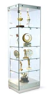 oak display cabinets with low voltage lighting display