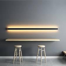 minimalistischen kreative lange wand le moderne led hintergrund wand le wohnzimmer nacht aluminium wand licht ligting leuchte