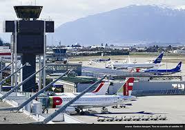 aéroport international ève vols stations des alpes suisse