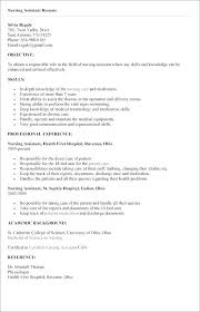 Resume Examples Cna Free Sample Templates Of