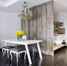 Rustic Wood Roomdivider Apartmenttherapy