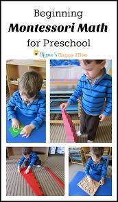 This Post On Beginning Montessori Math For Preschool Includes 6 Activities