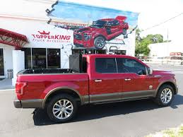 100 Bay Truck Accessories 2018 Ruby Red Ford F150 LEER X2T And Tint TopperKING TopperKING
