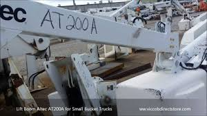 Lift Boom Altec AT200A For Small Bucket Utility Trucks - YouTube 55 Altec Am650 Bucket Truck W Material Handler On A 2008 Parts Manual Best 2018 2009 Ford F550 4x4 At37g 42 Crane For Sale In Used 0 Altec Hydraulic Cylinder Outrigger Inc 2003 Chevrolet Kodiak Chevy C4500 Regular Cab 81l Gas 35 Trucks Page 3 Where Can I Obtain Wiring Digram 1982 Versa Lift Tel28g Truckingdepot Centec Equipment Blog Tl0659 2012 F750 Split Dump 2007 Freightliner M2 Ta41m 46 Youtube