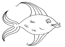 Free Download Rainbow Fish Coloring Page