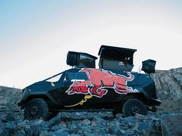100 Redbull Truck Meet Red Bulls Armored Moon Vehicle Land Rover Defender The Drive