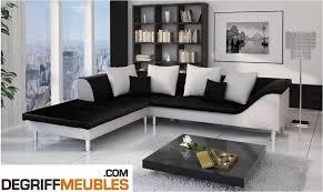 canape blanc noir sultan canapé d angle similicuir noir blanc degriffmeubles com