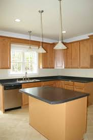 Narrow Kitchen Cabinet Ideas by Kitchen Room L Shaped Black Wooden Kitchen Island Bar Table With