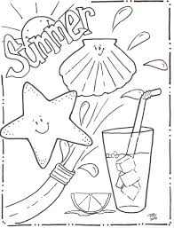 Free Printable Summer Coloring Pages Kids Summertime For Adults Vacation Full Size