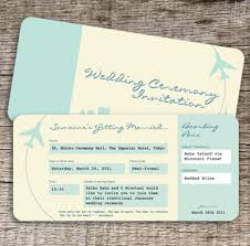 Plane Ticket Wedding Invitation Template Airline Free
