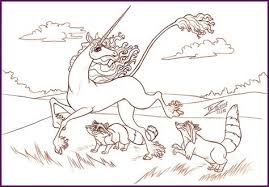 The Last Unicorn Coloring Pages Panda Grig3org