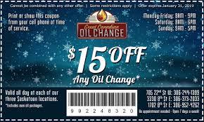 Oil Change Coupon Saskatoon