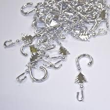 premier christmas tree bauble hooks 48 pack silver charlies