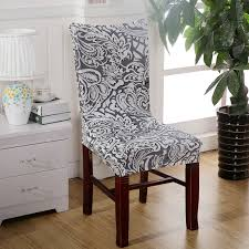 Sure Fit Dining Chair Slipcovers Uk by 1 Piece Sure Fit Soft Stretch Spandex Pattern Chair Covers For