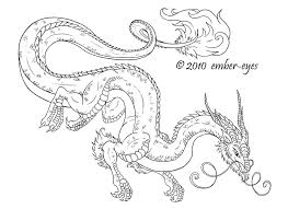 Coloring Book Dragon By Ember Eyes