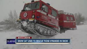 snow cat snow cat used to rescue those stranded in snow