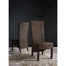 Safavieh Siesta Honey Black Wicker Side Chair (Set Of 2 ... Lotta Ding Chair Black Set Of 2 Source Contract Chloe Alinum Wicker Lilo Chairblack Rattan Chairs Uk Design Ideas Nairobi Woven Side Or Natural Flight Stream Pe Outdoor Modern Hampton Bay Mix And Match Brown Stackable