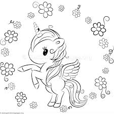 Cute Unicorn 9 Coloring Pages GetColoringPagesorg