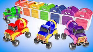Colors For Kids To Learn With Monster Truck Parking | Cars And ...