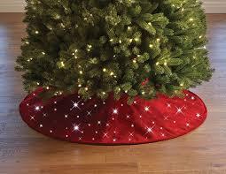 Cordless Twinkling Christmas Tree Skirt