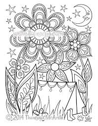 Camping Coloring Page From Happy Campers Book