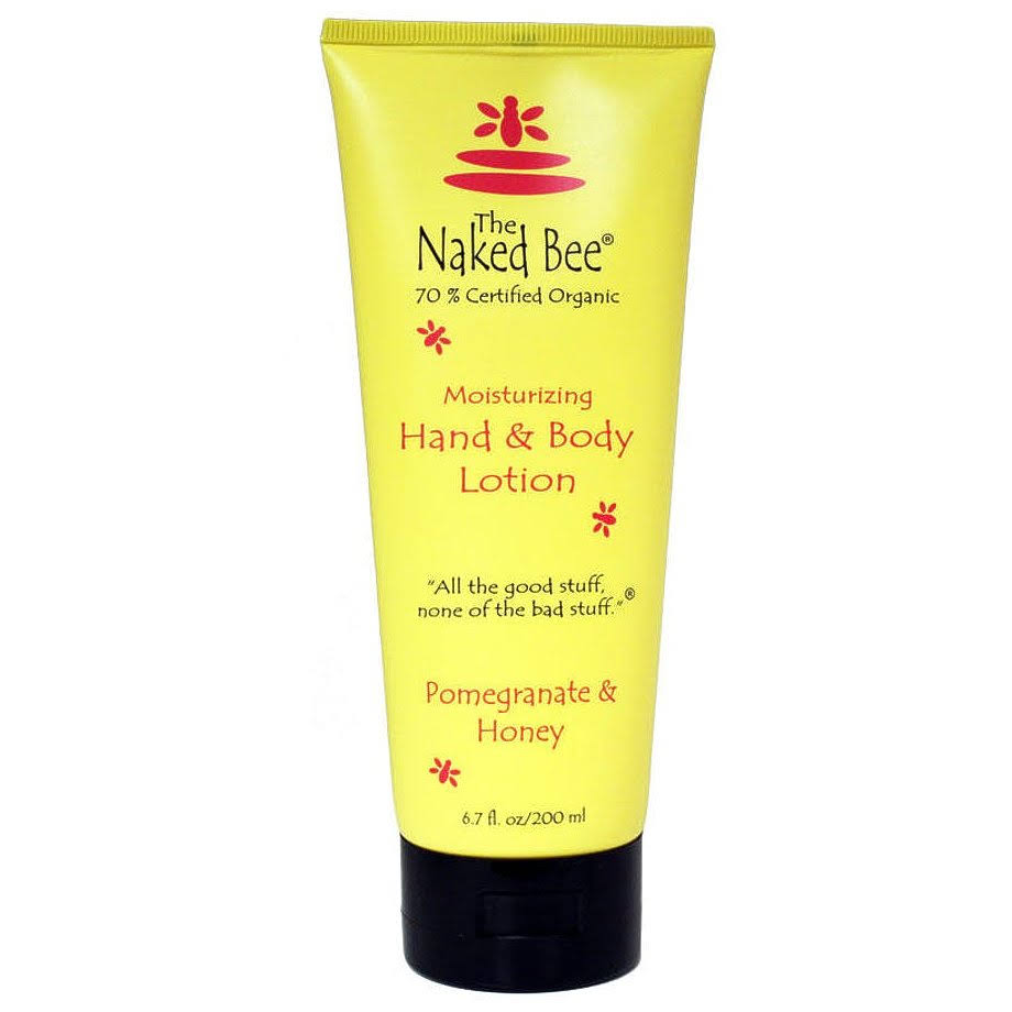The Naked Bee Moisturizing Hand and Body Lotion - Pomegranate Honey, 6.7oz