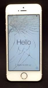 Apple Gold Iphone 5S Verizon Wireless Cracked Screen PHONE WORKS