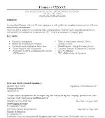 Sales Account Manager Resume Templates Executive Objective For Example Objectives Sample Inside