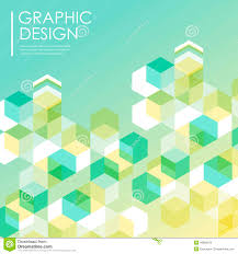 Simple Background For Poster With Hexagons Element