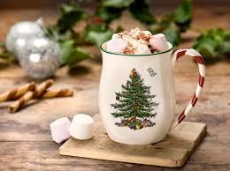 Spode Christmas Tree Mugs Candy Cane by Cup Of Chocolate In Christmas Mug Christmas Pinterest