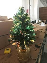 18 Inch Multi Colored Fiber Optic Indoor Plug In Christmas Tree