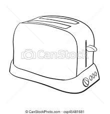 Illustration Of Isolated Cartoon Toaster