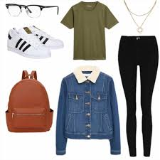 Superstars Fall Cute Vintage Outfits For School Outfit Denim Jacket Summer Winter Adidas Everyday And