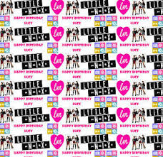 Image Is Loading Personalised Gift Wrapping Paper LITTLE MIX Birthday Any