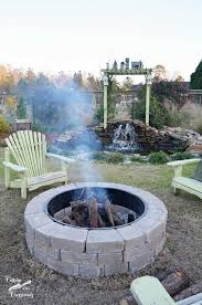 Belgard Cambridge Pavers And Weston Wall Used To Build The Fire Pit