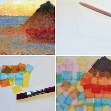 Art History For Kids Tissue Paper Painting Inspired By Claude Monet