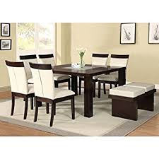 ACME Keelin Casual Dining Room Set With Table And 6 X Chair