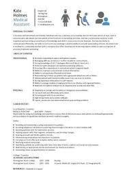 Resume Objective Example Examples For Medical Assistant