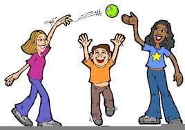 Active School Children Playing Stock Vector