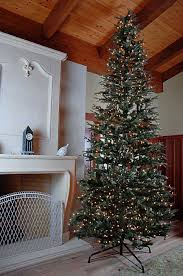 Slim Pre Lit Christmas Trees by Decoration Ideas Nice Slim Christmas Tree With Green Leaf And