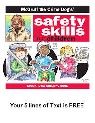 McGruff The Crime Dog Safety Skills Coloring Book